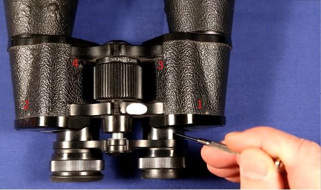 Locate the adjustment screws